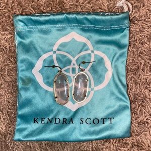 Kendra Scott pink and gold earrings
